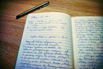 Zeszyt z notatkami